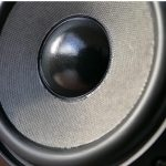 Image of Studio monitor speaker with woofer and tweeter