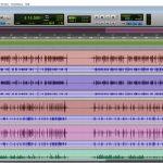 Screenshot of Pro Tools Playlists view