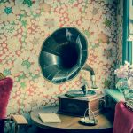 Vintage Gramophone in an old house