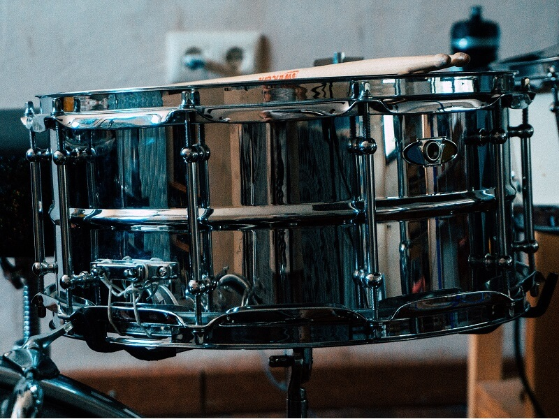 Image of chrome snare drum