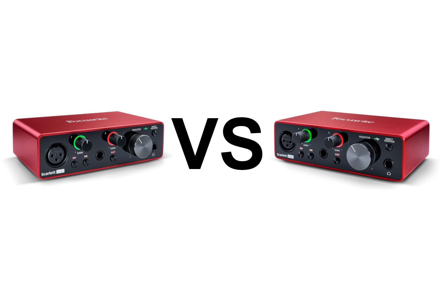Focusrite scarlet 2i2 vs solo